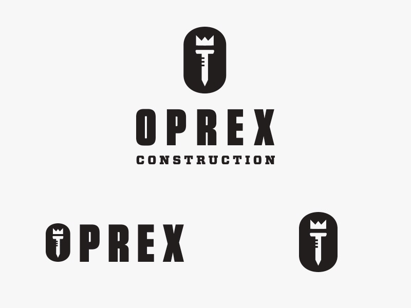 Oprex Construction Logo #2 saw logo lion king identity design crown construction branding