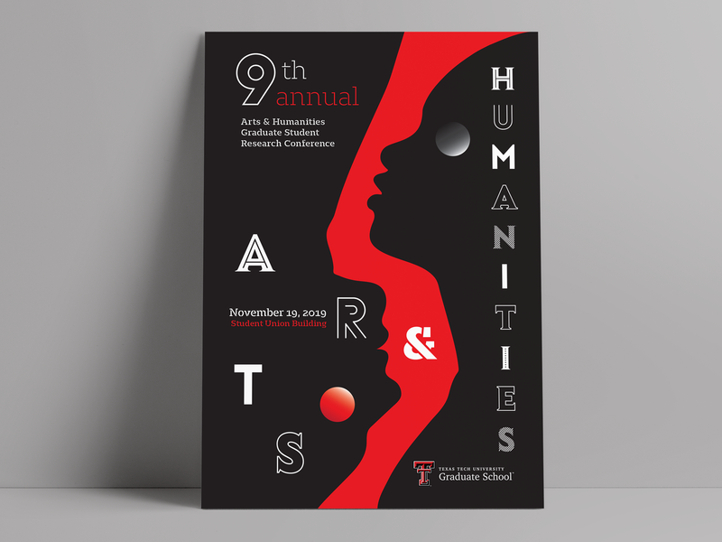 TTU Arts & Humanities Poster university education armagraphico event texas tech silhouette typography print illustration poster