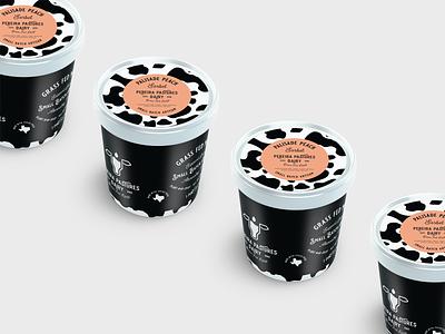 Pereira Pastures Gelato Packaging print mockup gelato milk cow dairy typogaphy packaging branding logo design