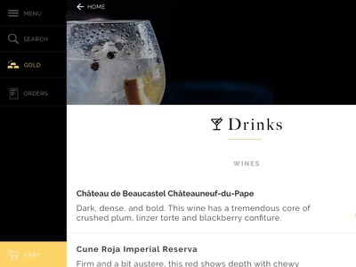 Drinks catalog ecommerce app mobile android