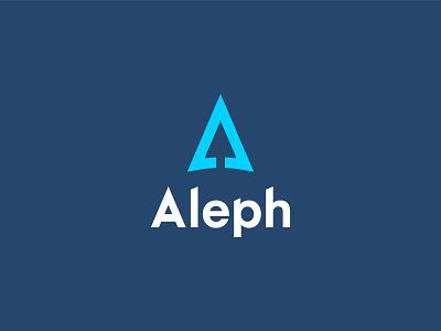 Aleph vector illustration minimal logo design compass branding