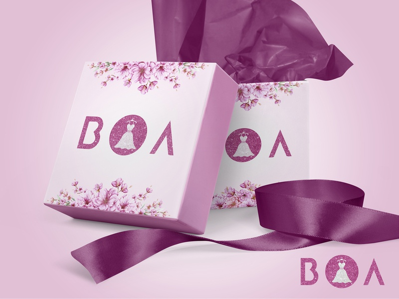 BOA Gift Box Design indonesia clean design packaging mockup logo branding graphic design adobe illustrator awesome design