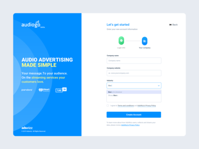 AudioGO - Sign UP