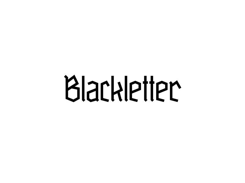 Blackletter Typeface 2 berlin ostbahnhof schrift typografie typography font typeface blackletter fraktur gebrochene schrift grobe deutschmeister