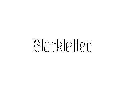 Blackletter Typeface 2