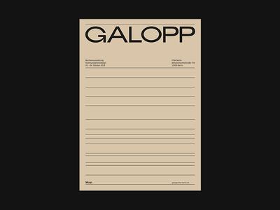 Galopp | AR Poster