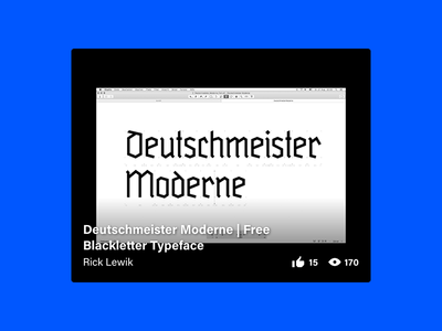 Deutschmeister Moderne | Free Blackletter Typeface