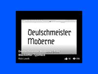 Deutschmeister Moderne   Free Blackletter Typeface type design typeface design glyphs typografie typography typo behance download modern fraktur fontdesign typedesign schrift font type typeface blackletter free moderne deutschmeister