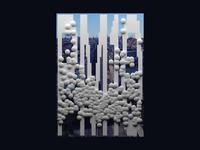 PM10   Datengenerierte Plakatserie 3d urban smog pm10 poster plakat partikel generative gestaltung generative design frankfurter allee feinstaub datengeneriert daten dataviz data visualization database data city blender berlin