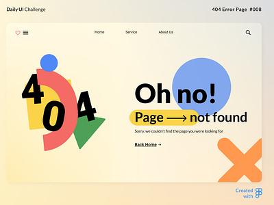 404 Error Page page user interface visual design uxui dailyui ux 404 error ui