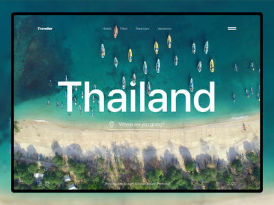 Travel in Thailand web website holiday asia concept voyage lifestyle adventures activity trip traveling agency travel agency vacation minimal sea ocean clean thailand travel