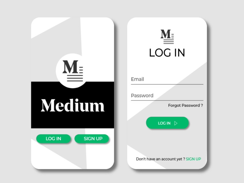 Medium Redesign ui app