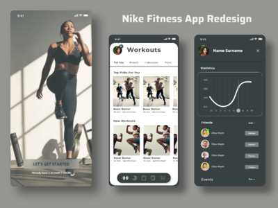 Nike Fitness app redesign design ux app ui