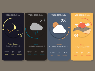 Weather App design ux app ui
