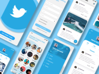 Twitter App Redesign twitter design ux app ui
