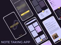Note Taking App todo design ux ui