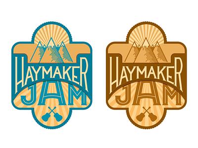Haymaker Logo logo typography symbol blue music