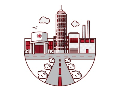 City building icon city illustration