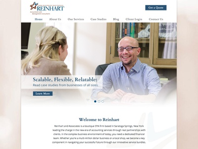 Reinhart Corporate Website photography uiux website