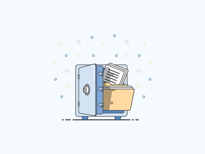 Illustration Test lock vault blue file file security safe illustration
