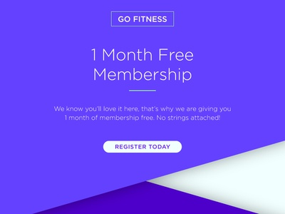Landing Page blue purple 100 days of ui fitness landing page ui