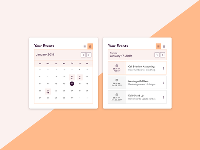 Daily UI - Calendar typography date picker date toggle schedule app event daily ui daily 100 ux design calendar ui