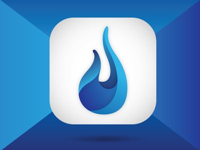 Droplet fitness branding app icon vector illustration design illustrator symbol logo blue