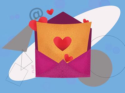 You've got mail ! love email branding ux logo design