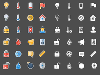 Smart home interface icons