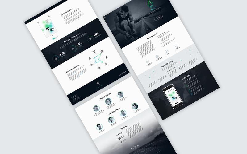 Website design for a fitness app ui web deisgn