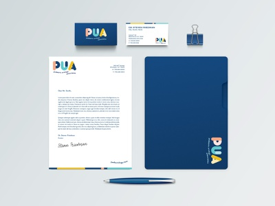 PUA: Print Collateral medical doctor stationary logo design design branding print collateral print