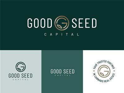 Good Seed Capital: Logo secondary mark real estate cannabis design logo design branding