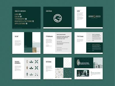 Good Seed Capital: Brand Guidelines real estate cannabis brand book brand guidelines brand identity logo design design branding