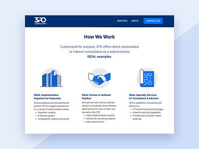 3PO Consulting: Web Design corporate design software treasury finance app icon set iconography website web design
