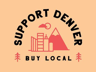 Support Denver: Shirt Designs support local artists t-shirt shirt design illustration colorado support local denver