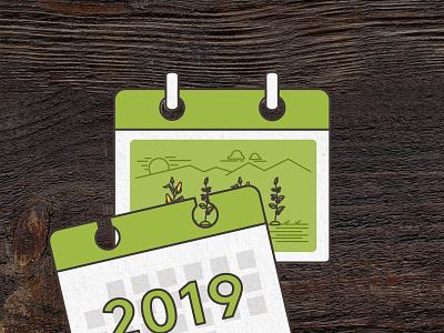 Hyggut: Calendar farm illustration motiongraphics motion calendar