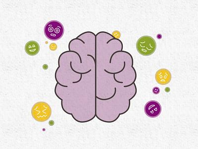 Hyggut: Brain & Body flat motion design motion illustration moods brain digestion digestive system gut body