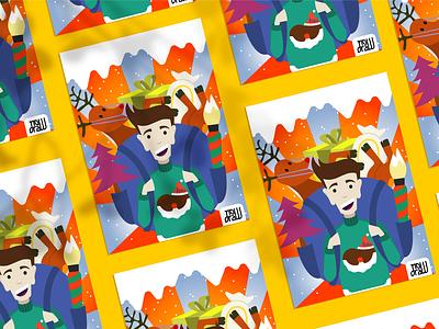 Christmas Postcard 2020 xmas card christmas party arte digital adobe illustration adobe illustrator illustrations illustration art christmas card christmas flyer digital art digital drawing graphic design illustrator ilustración illustration postal navideña navidad xmas christmas postcard christmas