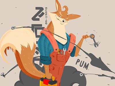 Mechanic Fox fox mechanic