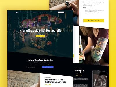 Swag Shop (wip) fullscreen background hero diagonal shop website wip