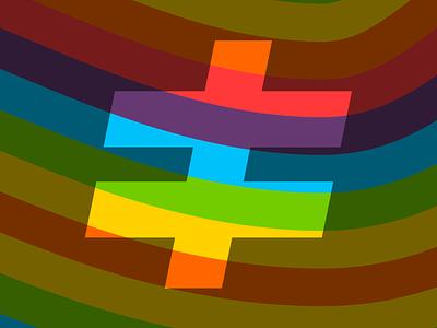 Diverently Pride colors rainbow stripes logo pride