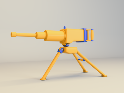 Cartoon Machine Gun (WIP) cinema 4d design maya octane c4d 3d modeling 3d art 3d illustration