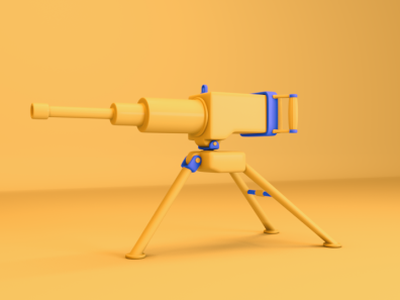 Stylized Machine Gun motion animation interactive illustration 3d 3d animation 3d modeling cinema 4d design maya octane c4d