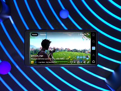Gaming Shot (Motion Design) game art fortnite octanerender octane cinema4d esports mobile illustration 3d interactive app screen design animation motion ui