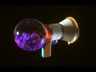 Bubble Gum Gun 3d art 3d modeling bubblegum gun cinema c4d cinema4d octane prop asset motion graphics 3d illustration design motion