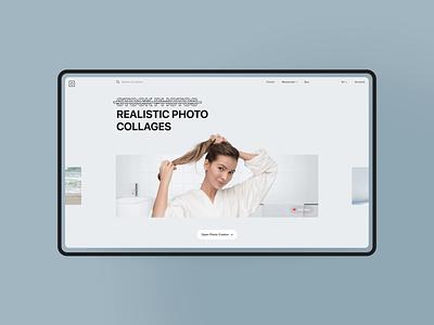 Moose Photos Redesign ux web stock photo design screen interactive animation motion ui