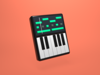Synthesiser 3D Icon