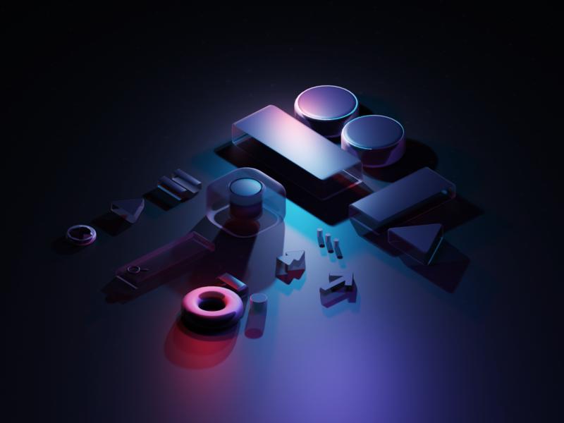 Celebrating 25 Launches visual graphic render b3d blender3d blender 3d branding design illustration