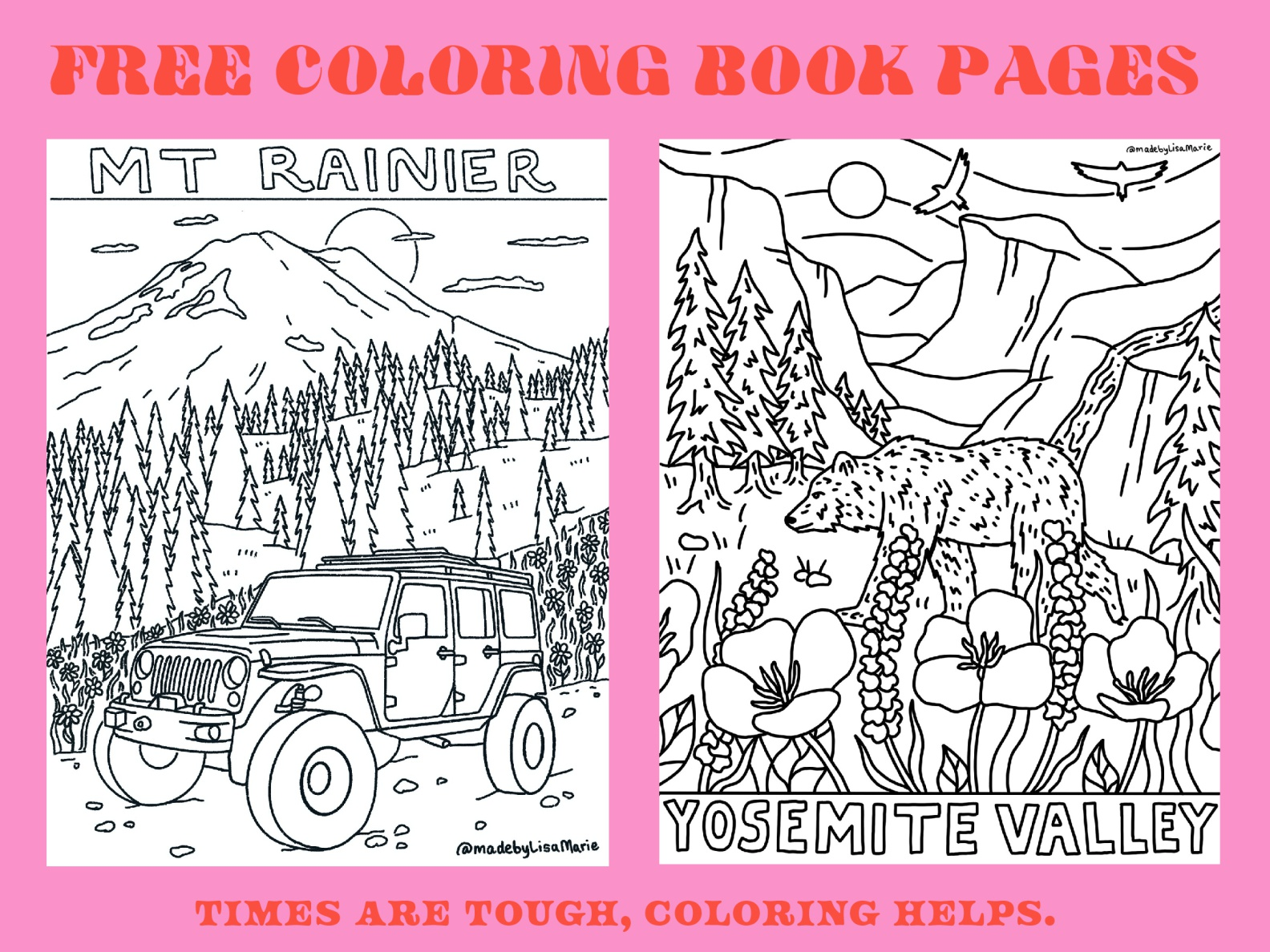 - Free Coloring Book Pages By Lisa McCormick On Dribbble