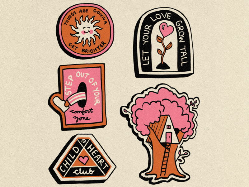 Child at heart badges dribbble
